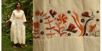 Aranya ♣ Kantha Embroidered . hand spun Handloom ♣  Cotton Dress ♣ 15