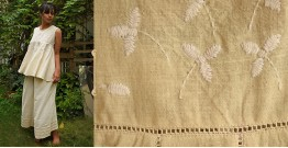 Aranya ♣ Kantha Embroidered . hand spun Handloom ♣ Cotton Top & Palazzo ♣ 19