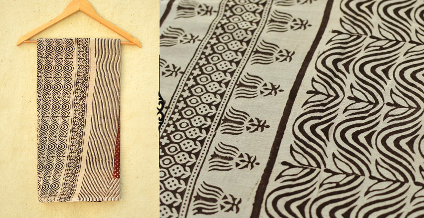 Samāyukta ✻ Jawariya . Block Printed . Cotton Saree ✻ 13