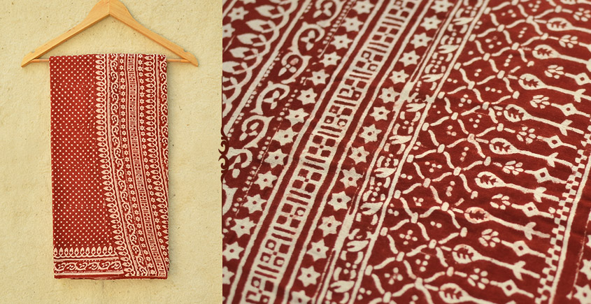Samāyukta ✻ Jawariya . Block Printed . Cotton Saree ✻ 15