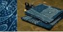 Satviki ✻ Indigo Dabu ✻ Cotton Saree -- 14