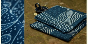 Satviki ✻ Indigo Dabu ✻ Cotton Saree -- 14