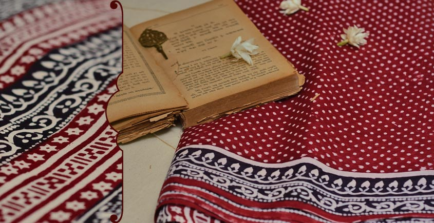 Varunika : Block printed Cotton Saree ~ 2