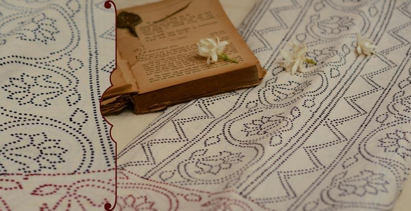 Varunika : Block printed Cotton Saree ~ 22