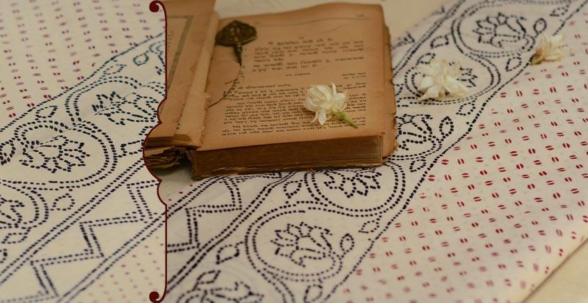 Varunika : Block printed Cotton Saree ~ 23