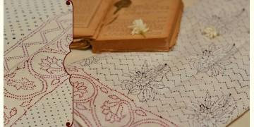 Varunika : Block printed Cotton Saree ~ 24