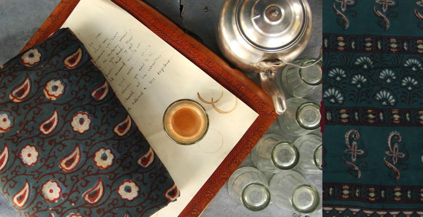 Of Tea Stains & Memories✑ Nandna Saree { Natural Color } ✑14