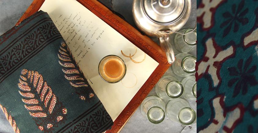 Of Tea Stains & Memories✑ Nandna Saree { Natural Color } ✑16