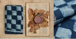 Sunday Afternoon ☕ Hand Printed ☕ Indigo Cotton Saree - 1