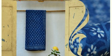 Syaama ~ Indigo Dabu printed . Cotton Saree ~ 10