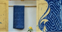 Syaama ~ Indigo Dabu printed . Cotton Saree ~ 4