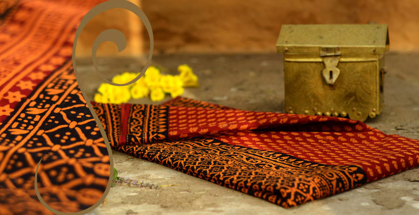 Manjri : Block printed Cotton Saree ~ 4