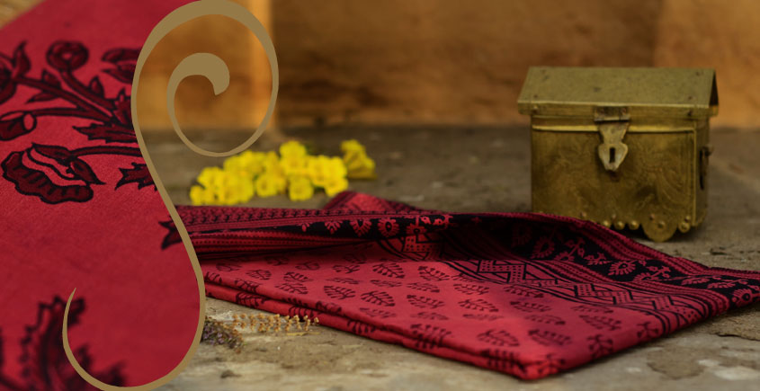Manjri : Block printed Cotton Saree ~ 5