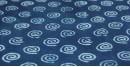 Indigo Dabu Print fabric ~ 12 (per meter)