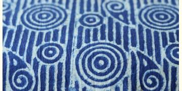 Indigo Dabu Print fabric ~ 1 (per meter)