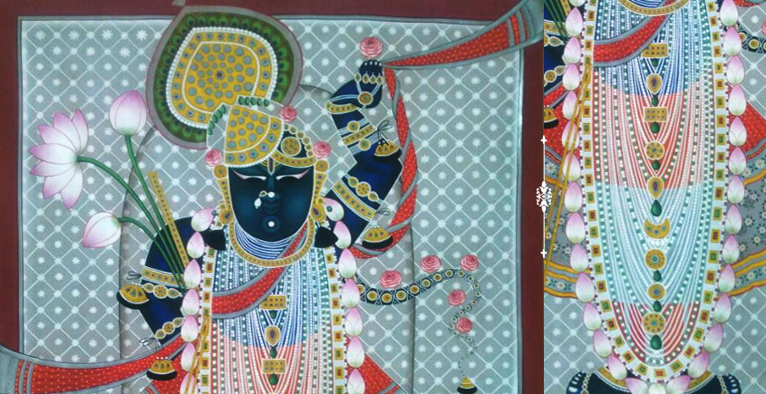 handmade Pichwai Painting ~  Srinath ji
