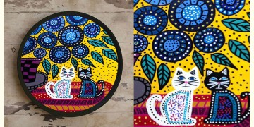 Art for Desserts ☘ Hand painted 'Gond Art' Wall Plate ☘ 2