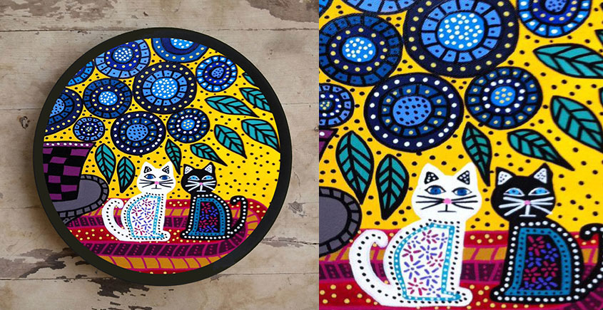 Art for Desserts ☘ Hand painted Gond Art Wall Plate ☘ 2