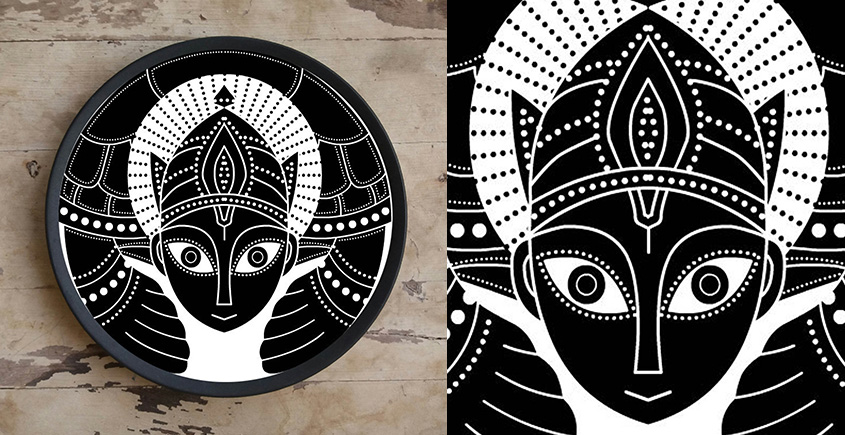 Art for Desserts ☘ Hand painted Indian God Wall Plate ☘ 6