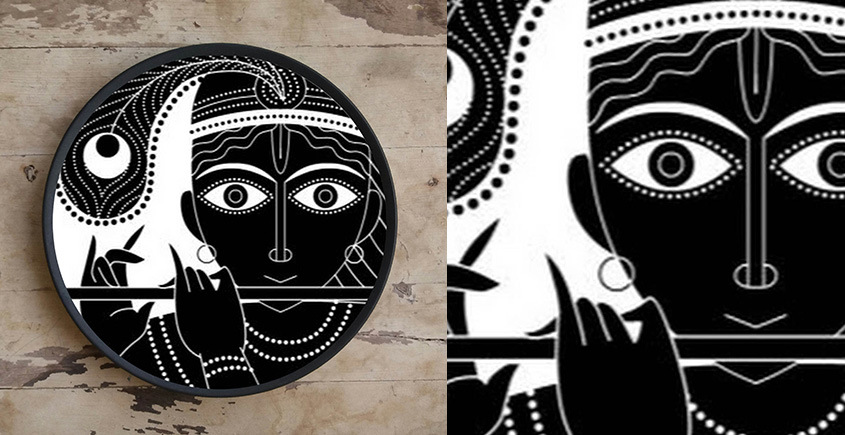 Art for Desserts ☘ Hand painted Indian God Wall Plate ☘ 8