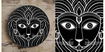 Art for Desserts ☘ Hand painted 'Indian God' Wall Plate ☘ 10