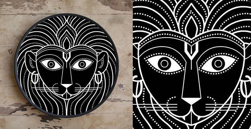 Art for Desserts ☘ Hand painted Indian God Wall Plate ☘ 10