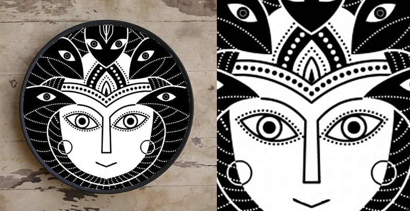 Art for Desserts ☘ Hand painted Indian God Wall Plate ☘ 12