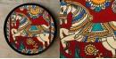Art for Desserts ☘ Hand painted Kalamkari Wall Plate ☘ 14