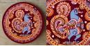 Art for Desserts ☘ Hand painted Kalamkari Wall Plate ☘ 15