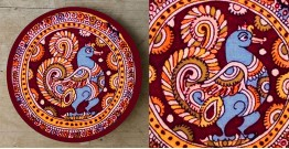 Art for Desserts ☘ Hand painted 'Kalamkari' Wall Plate ☘ 15