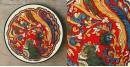 Art for Desserts ☘ Hand painted Kalamkari Wall Plate ☘ 16