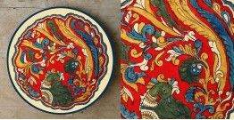 Art for Desserts ☘ Hand painted 'Kalamkari' Wall Plate ☘ 16