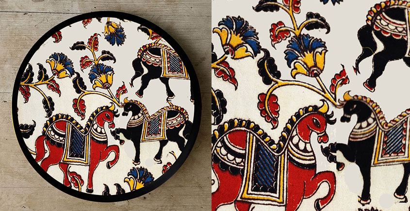 Art for Desserts ☘ Hand painted Kalamkari Wall Plate ☘ 17