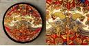 Art for Desserts ☘ Hand painted Kalamkari Wall Plate ☘ 18