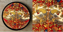 Art for Desserts ☘ Hand painted 'Kalamkari' Wall Plate ☘ 18