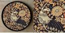 Art for Desserts ☘ Hand painted Kalamkari Wall Plate ☘ 19