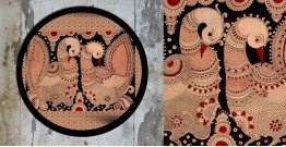 Art for Desserts ☘ Hand painted 'Kalamkari' Wall Plate ☘ 20