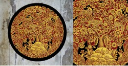Art for Desserts ☘ Hand painted 'Kalamkari' Wall Plate ☘ 21
