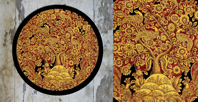Art for Desserts ☘ Hand painted Kalamkari Wall Plate ☘ 21