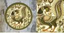 Art for Desserts ☘ Hand painted Kalamkari Wall Plate ☘ 22