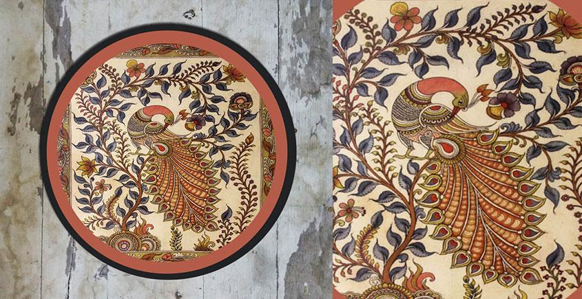 Art for Desserts ☘ Hand painted Kalamkari Wall Plate ☘ 23
