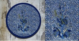 Art for Desserts ☘ Hand painted 'Kalamkari' Wall Plate ☘ 24