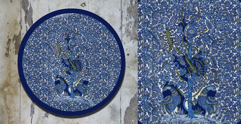 Art for Desserts ☘ Hand painted Kalamkari Wall Plate ☘ 24