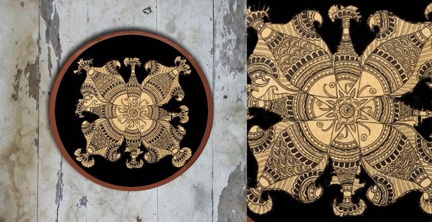 Art for Desserts ☘ Hand painted Kalamkari Wall Plate ☘ 26