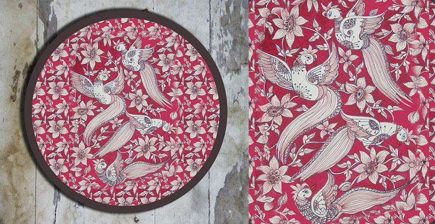 Art for Desserts ☘ Hand painted Kalamkari Wall Plate ☘ 28