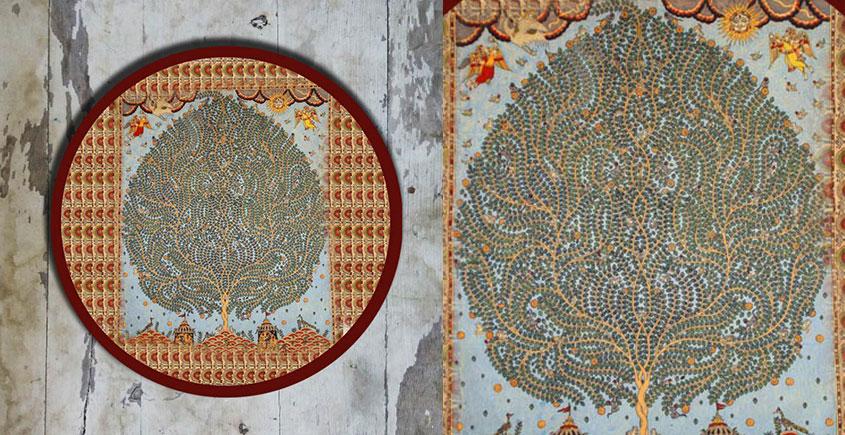 Art for Desserts ☘ Hand painted Kalamkari Wall Plate ☘ 31