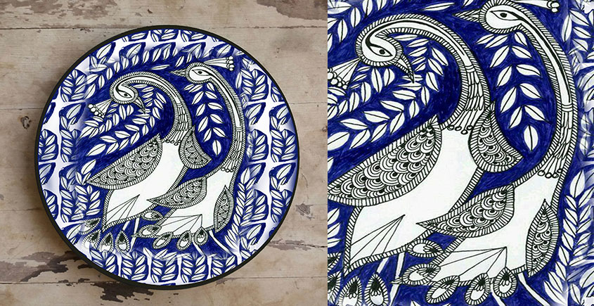 Art for Desserts ☘ Hand painted Madhuban Wall Plate ☘ 33