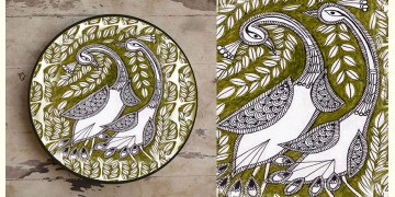 Art for Desserts ☘ Hand painted 'Madhuban' Wall Plate ☘ 35