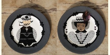 सजावट ❦ Hand Painted French Wall Plates ❦ 23 { set of 2 }