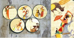 सजावट ❦ Hand painted 'Myths' Wall Plates ❦ 27 { set of 5 }